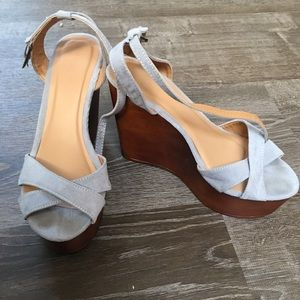 Blue Charlotte Russe wedges